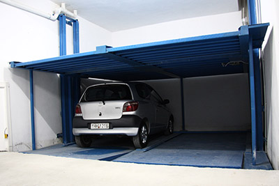 Two-level mechanical parking system